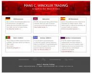 Bild Webseite Hans C. Winckler Trading Hamburg