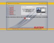 die Klotzin GmbH begr?sst Sie auf ihrer Webseite