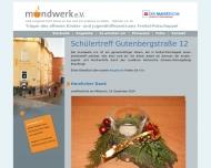 Bild Webseite Mundwerk Freital