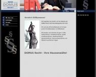 Bild Webseite DOMUS Recht Rechtsanwaltsgesellschaft Berlin