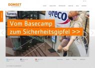 Bild Webseite DOMSET Köln