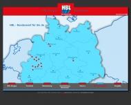 Website HBL Stahlhandel Rheine
