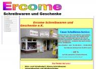 Bild Webseite ERCOME Schreibwaren und Geschenke Berlin