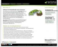 Bild Webseite prisma informatik Nürnberg