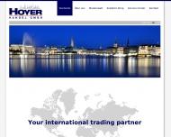Bild Webseite HOYER Handel Hamburg