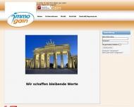 Bild Webseite Immogain Immobilien Handels Berlin