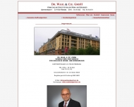 Website Dr. Wahl & Cie.