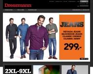 Bild Webseite Dressmann Hamburg