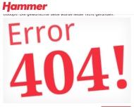 Website HAMMER Fachmärkte für Heim-Ausstattung