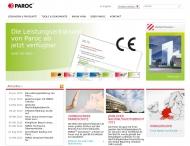 Bild Webseite Paroc Hamburg