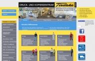 Bild Webseite Druck- und Kopierzentrum Tiedeke Hamburg