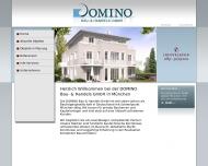 Bild Webseite DOMINO Bau- und Handels München