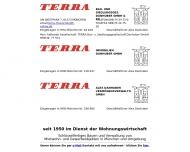 Bild Webseite TERRA Bau- und Siedlungsgesellschaft Danhuber München