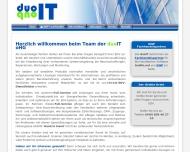 Bild Webseite duoIT Hamburg