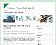Bild Webseite Dyckerhoff Pharma Verwaltung Köln