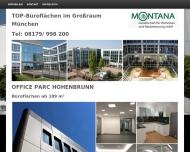 Bild Webseite MONTANA Gesellschaft für Wohnbau und Baubetreuung München