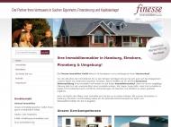Bild Webseite finesse Immobilien Hamburg