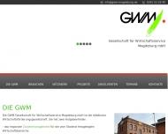 Website GWM Gesellschaft für Wirtschaftsservice Magdeburg