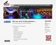 Website RaTec - Veranstaltungstechnik / DJ