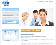 Bild Webseite DAA Job Plus Hamburg