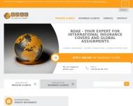 Bild Webseite Dienstleistungsges. für den Bund der Auslands-Erwerbstätigen (BDAE) Hamburg