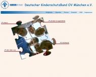 Bild Webseite Deutscher Kinderschutzbund Ortsverband München München