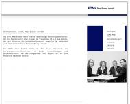 Bild Webseite DTML Real Estate Leipzig