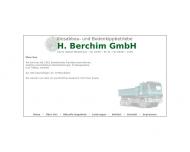Website Kiesabbau- und Bodenkippbetriebe H. Berchim Gesellschaft