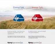 Bild Webseite König Verwaltung Sylt-Ost