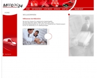 Bild Webseite MEDLOG24 Hamburg