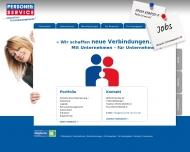 Bild Webseite Personell-Service Heilbronn