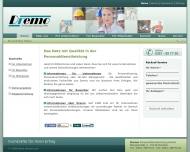 Bild Webseite Dremo Personaldienstleistung Dresden