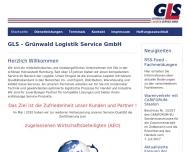 Bild Webseite GLS Grünwald Logistik Service Hamburg