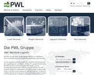 Bild Webseite PWL Shipping Verwaltung Bremen