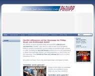 Bild Webseite Philipp Einzel- und Großhandels Berlin