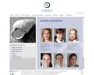Website Alster Acoustics - die Hörboutique