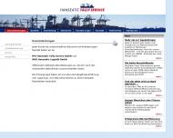 Bild Webseite WGS Hanseatic Logistik Hamburg