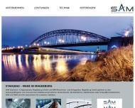 Bild Webseite SAM Stahlturm- & Apparatebau Magdeburg Magdeburg