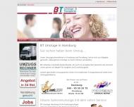 Bild Webseite B. T. Umzüge und Transporte Hamburg