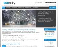 Bild Webseite ecobility München