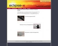 Bild Webseite Eclipse-X Software Solutions München