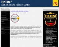 Bild Webseite EKOM Elektro- und Sicherheitstechnik Berlin