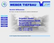 Bild Engelbert Weber Bauunternehmen Gesellschaft mit beschränkter Haftung