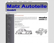Website Matz Autoteile