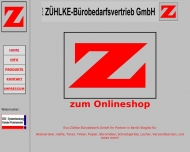 Bild Webseite Eva Zühlke-Bürobedarfsvertriebs Berlin