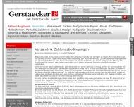 Website Gerstäcker Dresden Verwaltungsgesellschaft