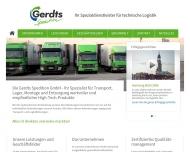 Bild Webseite Gerdts Spedition Hamburg