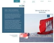 Bild Webseite ElbOil Hamburg