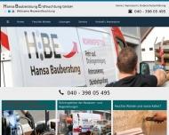 Bild Webseite HBE Hansa Bauberatung Entfeuchtung Hamburg