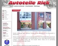 Website Rick Autoteile